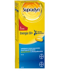 SUPRADYN ENERGIA 50+ FILMTABL. 90X Bayer Vitaminok és Nyomelemek  7,076.54 Dió patika online gyógyszertár internetes gyógysze...