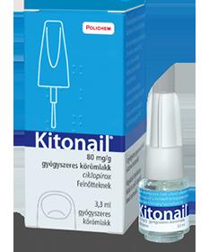 KITONAIL 80MG/G GYOGYSZERES KOROMLAKK 1X3,3 ML  Körömgomba és bőrgomba elleni készítmények 5,252.55 Dió patika online gyógysz...