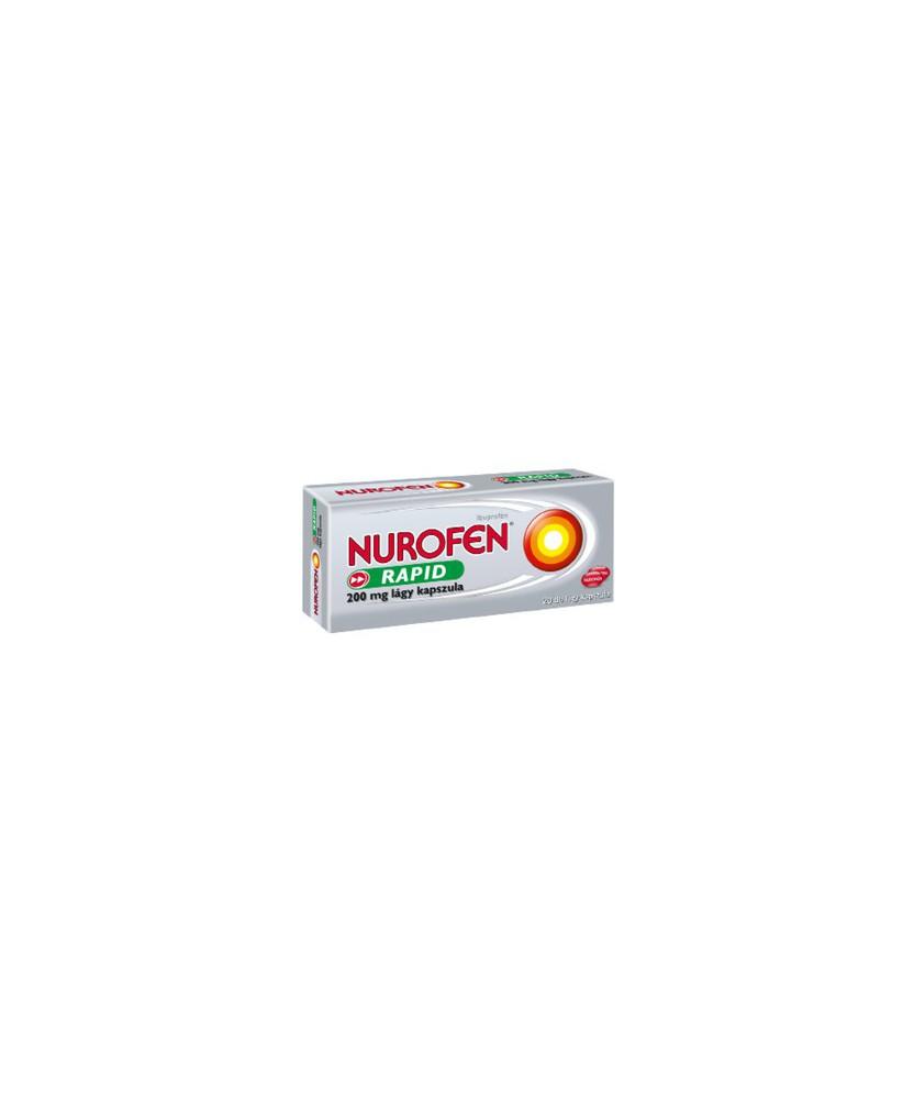 NUROFEN RAPID 200MG LAGY KAPSZ. 20X  Tabletták 1,443.05 Dió patika online gyógyszertár internetes gyógyszerrendelés Budakeszi