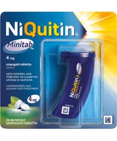 NIQUITIN MINITAB 4MG PRESELT SZOP.TABL. 20X GlaxoSmithKline Dohányzásról való leszokást segítő termékek 1,729.00 Dió patika o...