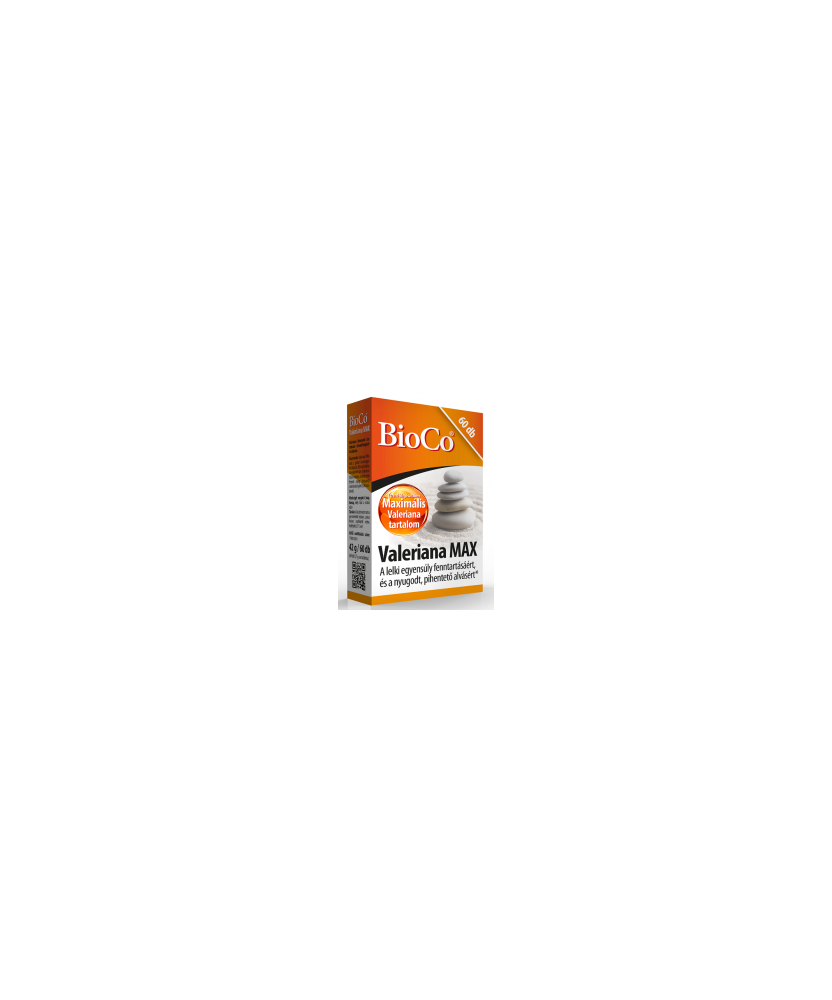 BIOCO VALERIANA MAX TABL. 60X BioCo Altatók/ Nyugatók 2,022.55 Dió patika online gyógyszertár internetes gyógyszerrendelés Bu...