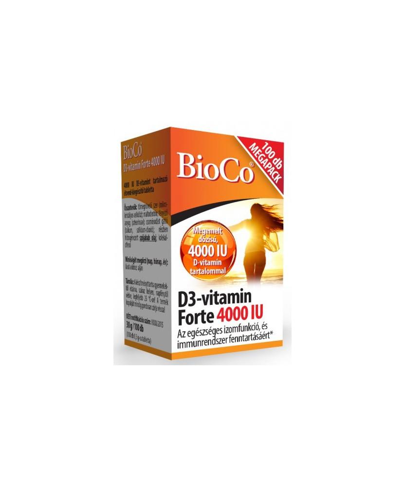 BIOCO D3-VITAMIN FORTE 4000IU TABL. 100X BioCo Vitaminok és Nyomelemek  2,583.04 Dió patika online gyógyszertár internetes gy...