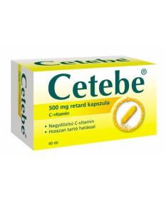 CETEBE 500MG RETARD KEMENY KAPSZULA 60X GlaxoSmithKline Vitaminok és Nyomelemek  2,602.05 Dió patika online gyógyszertár inte...