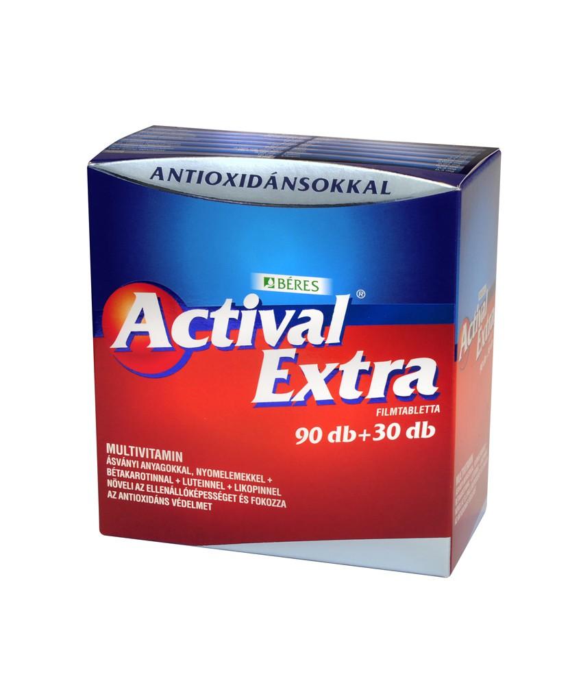 ACTIVAL EXTRA FILMTABL. 120X (90+30) Béres Vitaminok és Nyomelemek  4,599.00 Dió patika online gyógyszertár internetes gyógys...