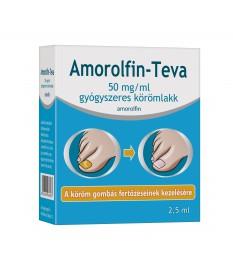 AMOROLFIN-TEVA 50MG/ML GYOGYSZ.KOROMLAKK 1X2,5ML Teva Gyógyszergyár Zrt. Körömgomba és bőrgomba elleni készítmények 3,759.00 ...