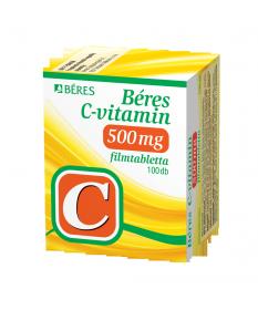 BERES C-VITAMIN 500 MG FILMTABL. 100X Béres Vitaminok és Nyomelemek  2,029.00 Dió patika online gyógyszertár internetes gyógy...