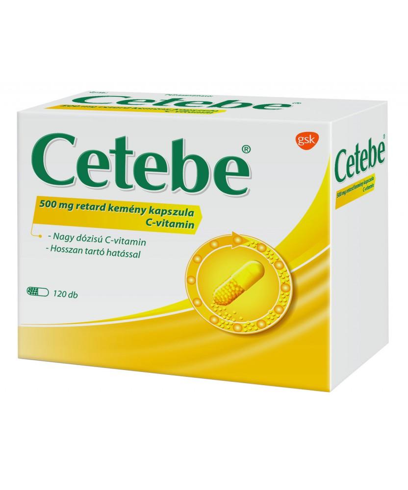 CETEBE 500MG RETARD KEMENY KAPSZULA 120X GlaxoSmithKline Vitaminok és Nyomelemek  3,449.00 Dió patika online gyógyszertár int...