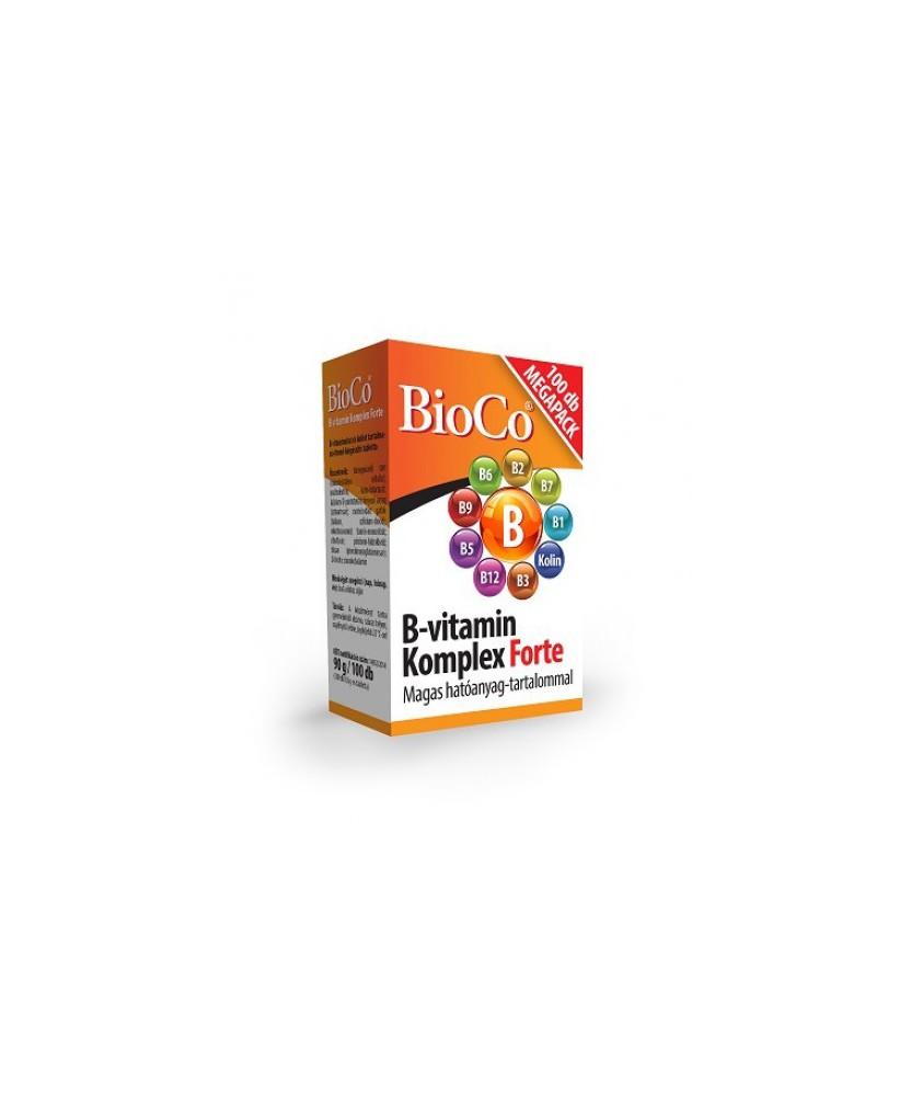 BIOCO B-VITAMIN KOMPLEX FORTE TABL. 100X BioCo Vitaminok és Nyomelemek  2,279.00 Dió patika online gyógyszertár internetes gy...