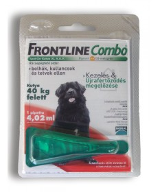 A.U.V. FRONTLINE COMBO KUTY.XL(40-60KG) 1X4.02ML  Állatpatika 3,887.40 Dió patika online gyógyszertár internetes gyógyszerren...