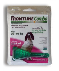 A.U.V. FRONTLINE COMBO KUTY.L (20-40KG) 1X2.68ML  Állatpatika 3,487.45 Dió patika online gyógyszertár internetes gyógyszerren...